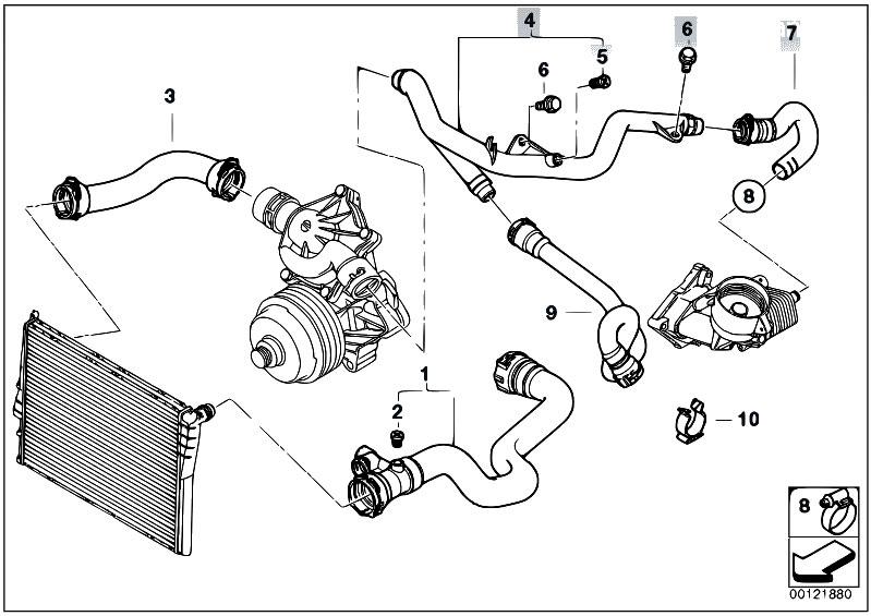 Original Parts For E53 X5 3 0d M57 Sav    Engine   Cooling