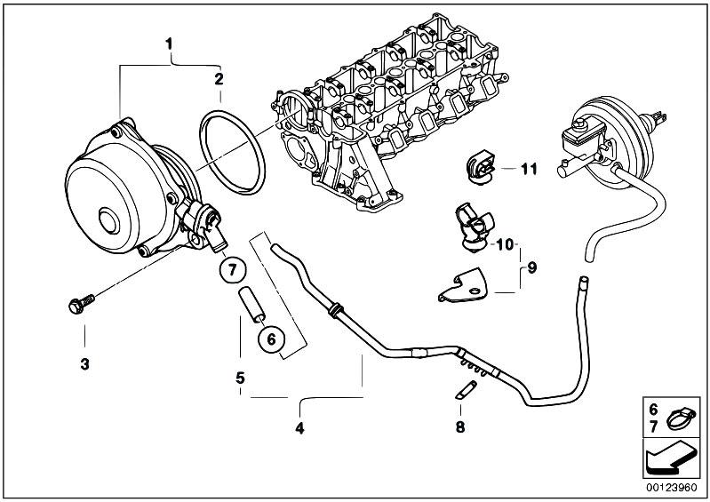 Original Parts For E46 320d M47n Touring    Engine   Vacuum