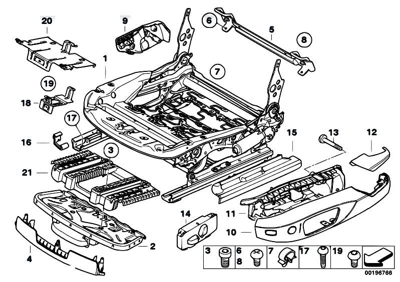 Original Parts for E82 123d N47S Coupe     Seats    Front    Seat    Rail Electrical Single Parts  eStore