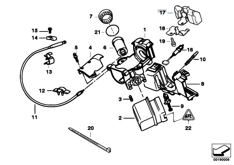 original parts for e38 725tds m51 sedan    steering