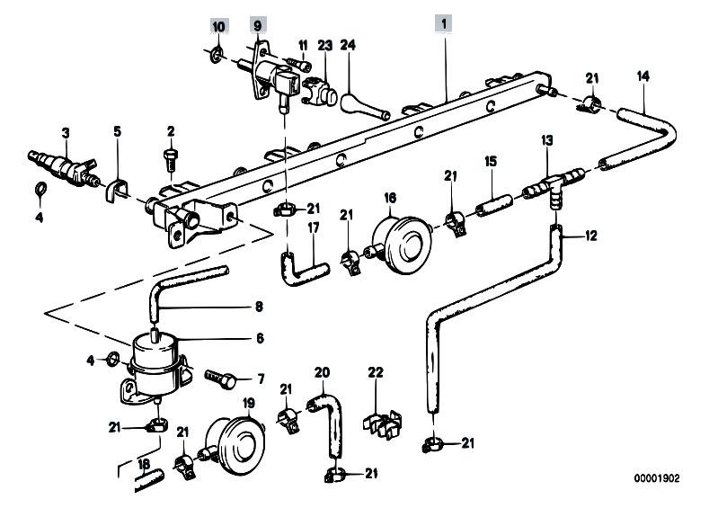 Original Parts For E30 325e M20 4 Doors    Fuel Preparation