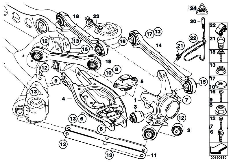 2000 bmw 323i rear suspension diagram  bmw  auto parts