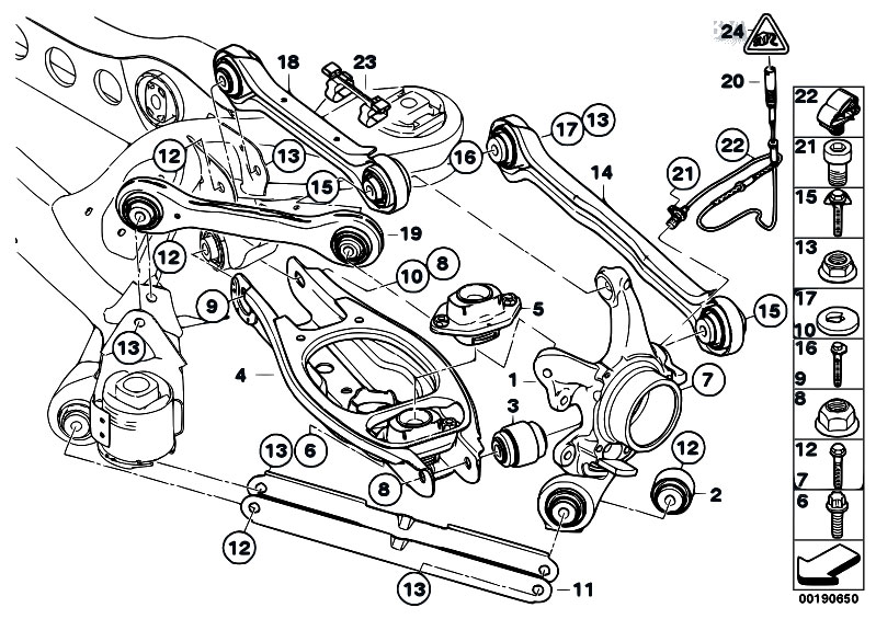 Original Parts For E90 320d M47n2 Sedan Rear Axle Rear Axle