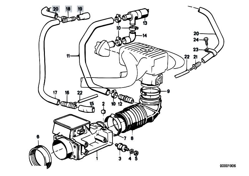 Original Parts For E30 318i M10 4 Doors Fuel Preparation System