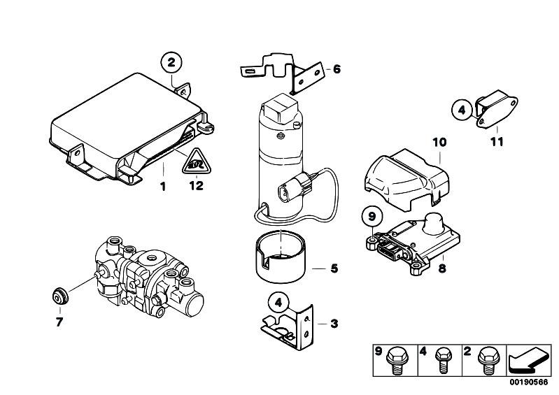 Original Parts For E38 750il M73 Sedan    Brakes   Control