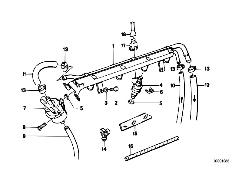 Original Parts For E30 M3 S14 Cabrio    Fuel Preparation
