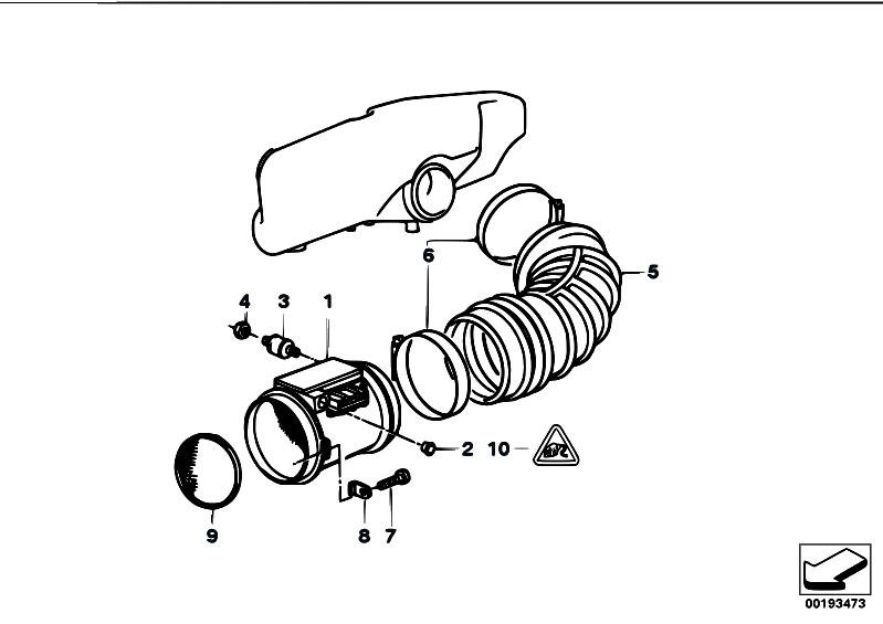 original parts for e34 m5 s38 touring fuel preparation system Air Flow Auto Rotation original parts for e34 m5 s38 touring fuel preparation system mass air flow sensor estore central