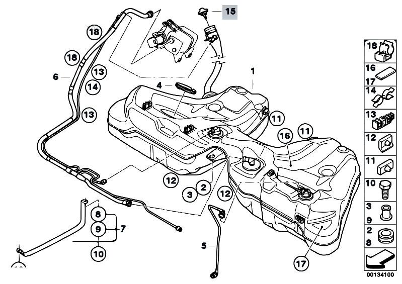 Original Parts For E60 M5 S85 Sedan    Fuel Supply   Fuel
