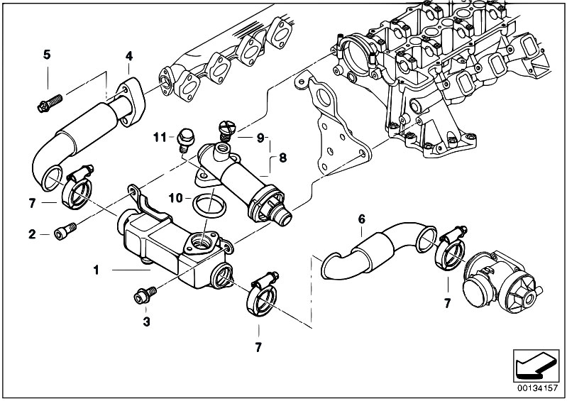 Original Parts For E65 730d M57n Sedan    Engine   Emission