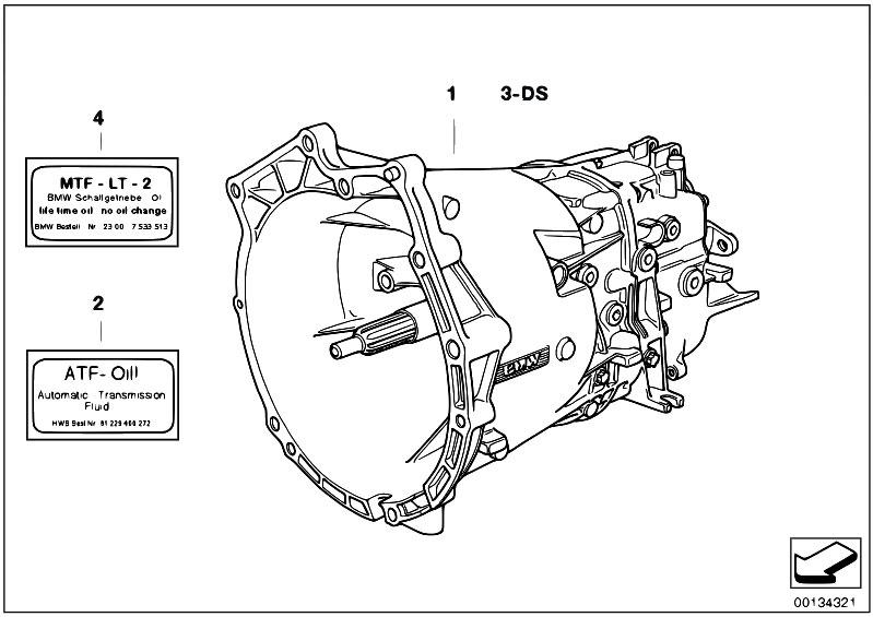 original parts for e38 728i m52 sedan / manual transmission/ manual gearbox  s5d z - estore-central com