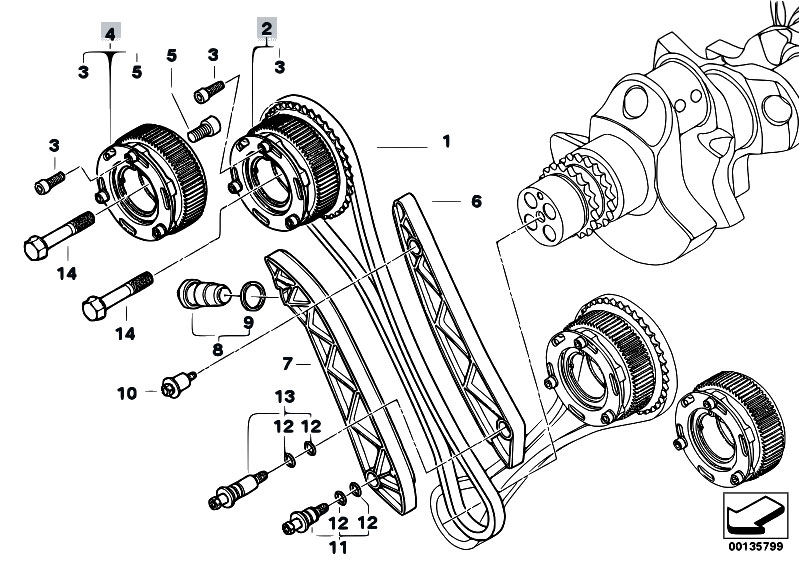 original parts for e60 m5 s85 sedan / engine/ timing gear ... bmw e30 engine diagram 327e #10