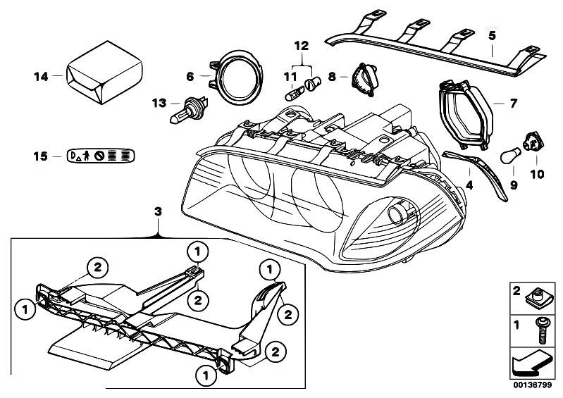 bmw x3 parts catalog headlight