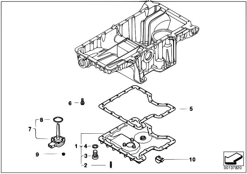 Original Parts For E70 X5 4 8i N62n Sav    Engine   Oil Pan