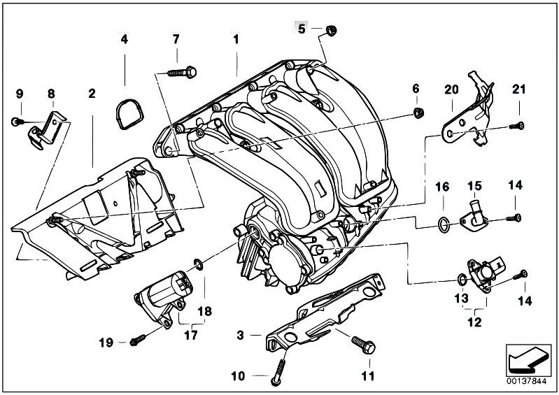 Original Parts For E90 320i N46 Sedan    Engine   Intake Manifold System