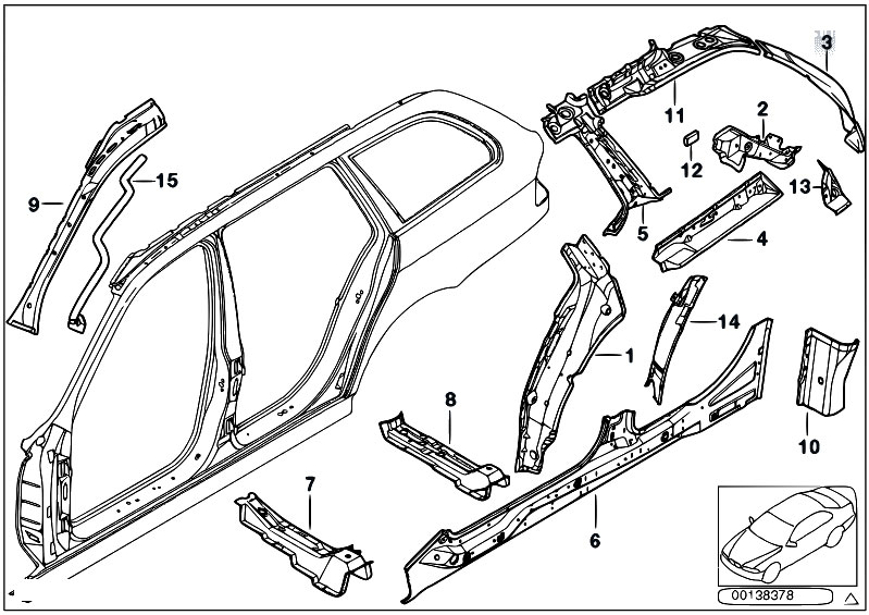 Original Parts For E39 528i M52 Touring Bodywork Single