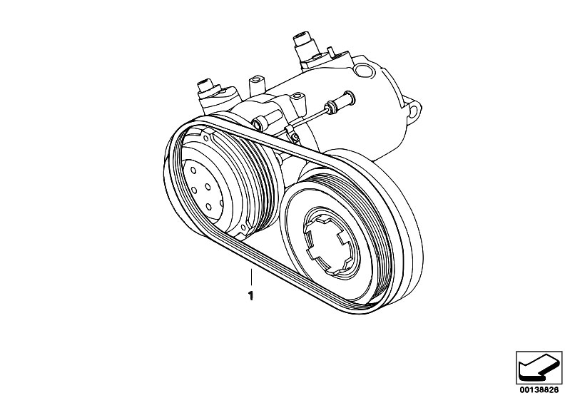 original parts for e46 320d m47n touring    engine   belt