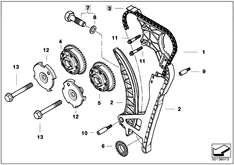 original parts for e60 530i n52 sedan    engine   timing and
