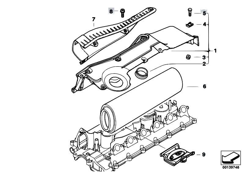 original parts for e83 x3 3 0d m57n sav    fuel preparation system   suction silencer filter