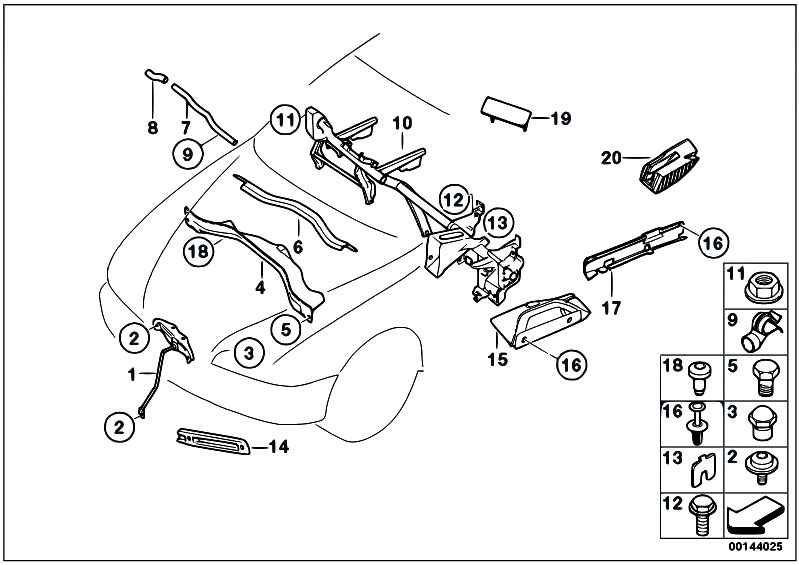 original parts for e66 760li n73 sedan    vehicle trim   various body parts 2