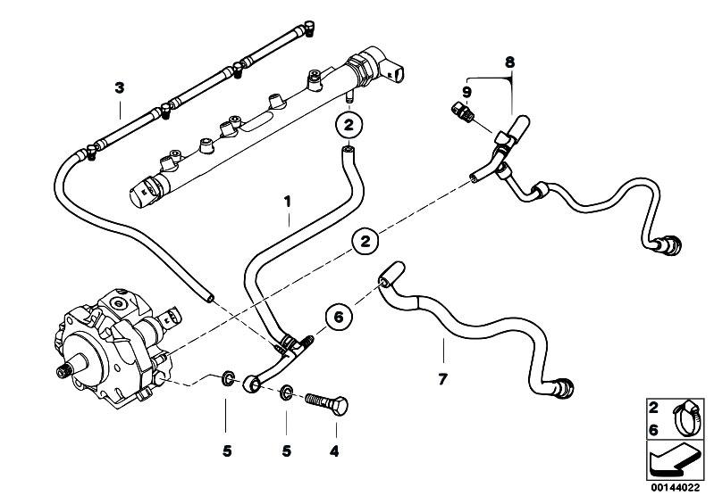 Original Parts For E61 520d M47n2 Touring    Fuel