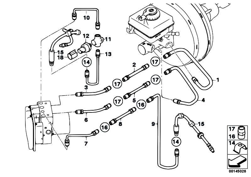 original parts for e64 645ci n62 cabrio    brakes   brake