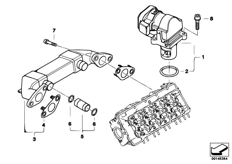 original parts for e65 745d m67n sedan    engine   egr emission reduction cooling