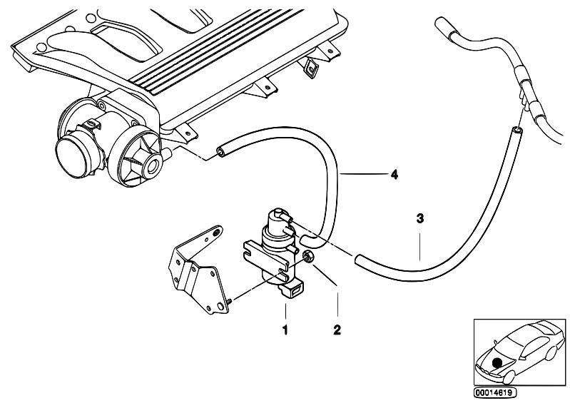 original parts for e46 320d m47 sedan    engine   vacuum control agr