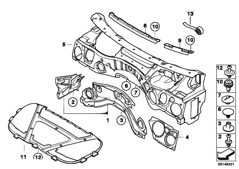 original parts for e87 118d m47n2 5 doors    vehicle trim   sound insulating front