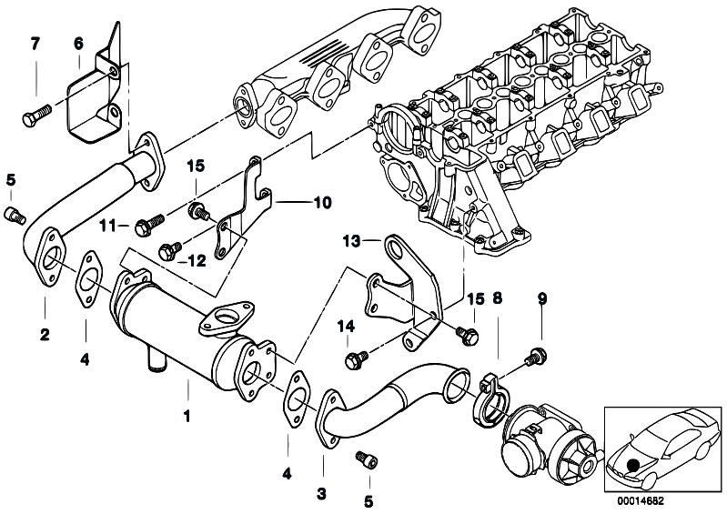 Original Parts For E46 320d M47 Touring    Engine   Emission