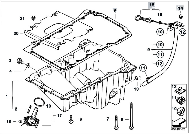 Original Parts For E46 320d M47n Touring Engine Oil Pan