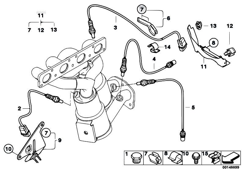Lambda Oxygen Sensor 5-wire 11787512985 For BMW 120i 320i 735i 735Li 745i 745Li