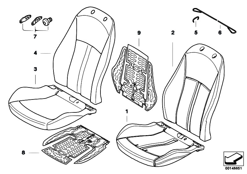 Original Parts For E85 Z4 2 5si N52 Roadster Seats Basic Seat
