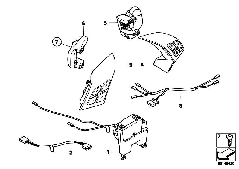original parts for e60 530xi n52 sedan vehicle. Black Bedroom Furniture Sets. Home Design Ideas