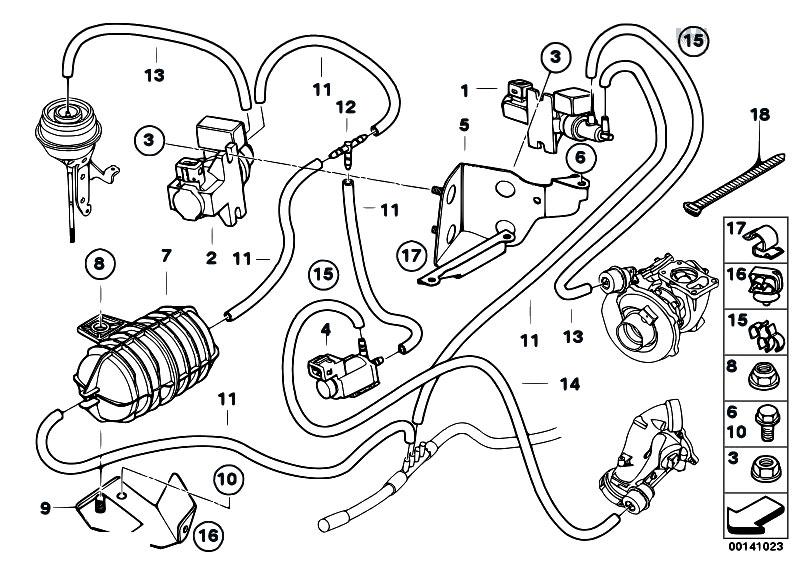 Original Parts For E60 535d M57n Sedan    Engine   Vacum