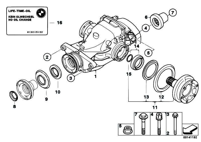 Original Parts for E90 320d N47 Sedan / Rear Axle
