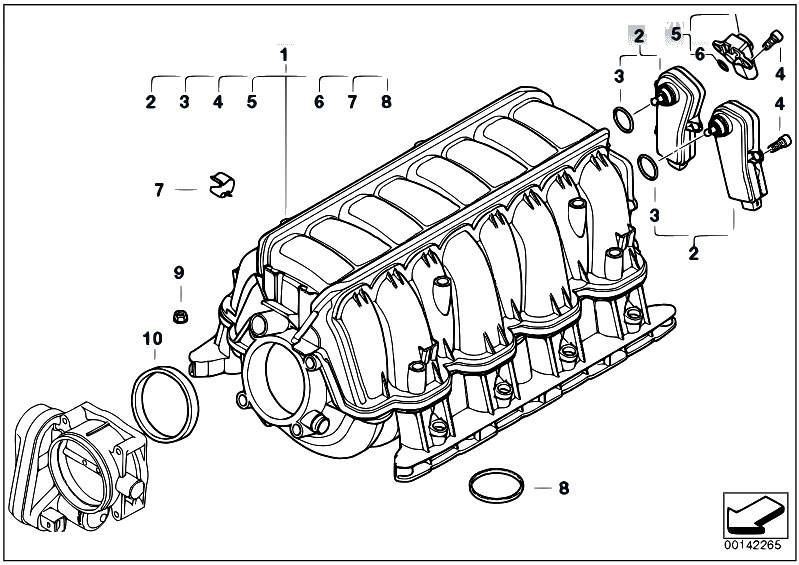 Original Parts For E70 X5 4 8i N62n Sav    Engine   Intake