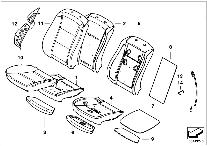 original parts for e60 m5 s85 sedan    seats   upholstery