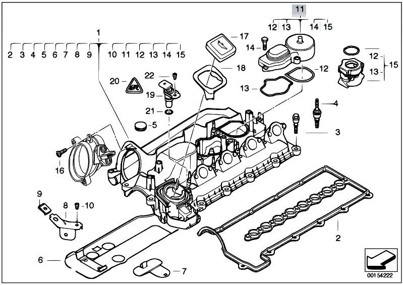 Original Parts For E83n X3 2 0d M47n2 Sav    Engine   Cylinder Head Cover