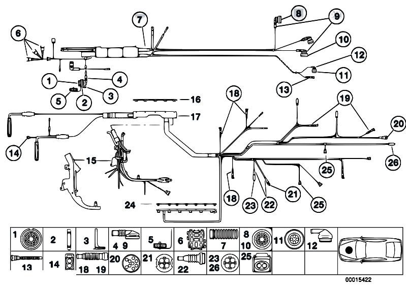 Original Parts For Z3 Z3 2 0 M52 Roadster    Engine
