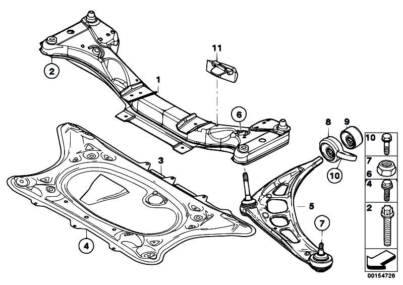 S54 Engine Front Diagram