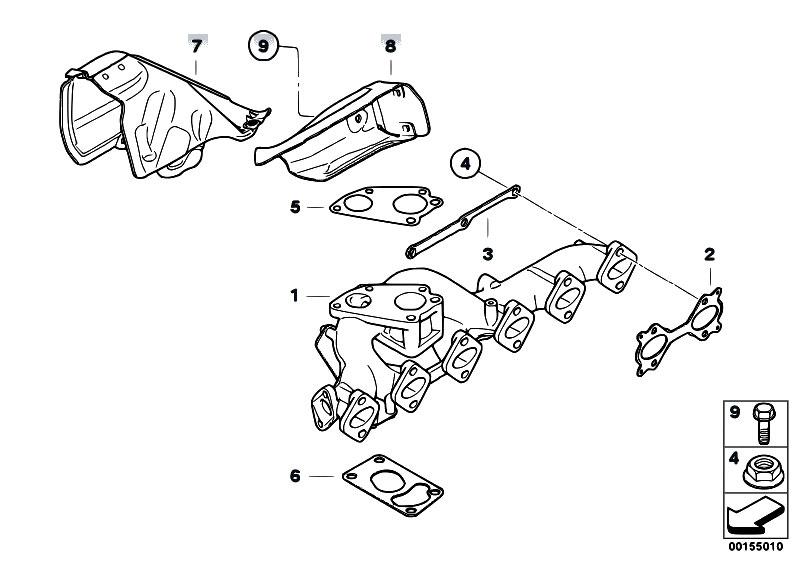 original parts for e90n 335d m57n2 sedan    engine   exhaust