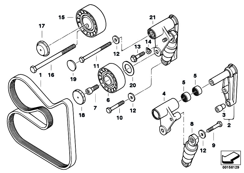 E46 Belts Diagram
