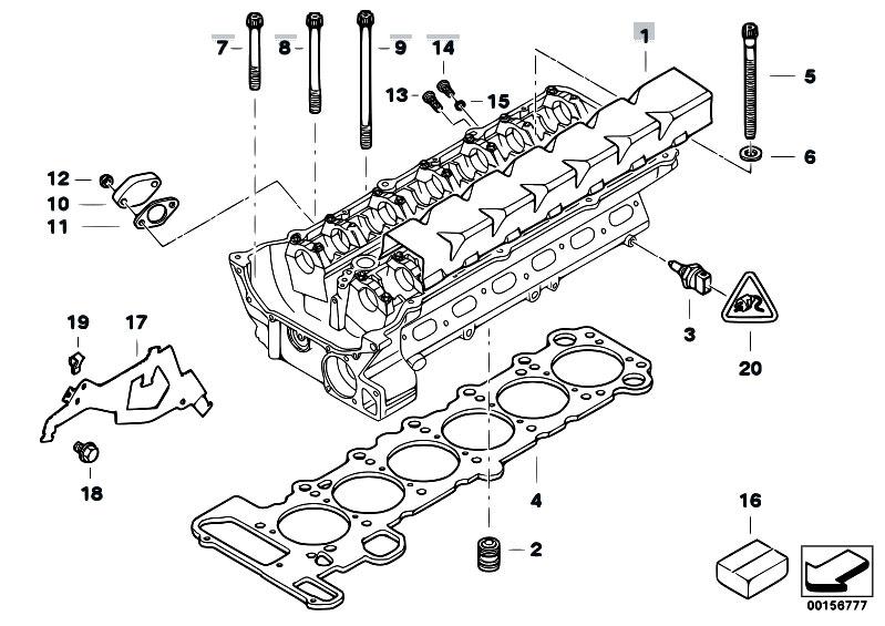 original parts for e46 320i m52 sedan    engine   cylinder