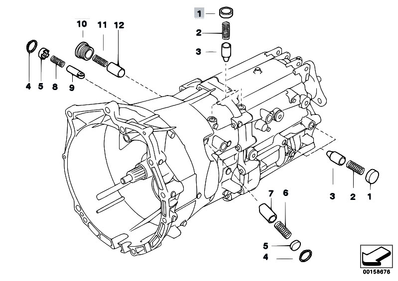 Original Parts For E85 Z4 3 0i M54 Roadster Manual Transmission