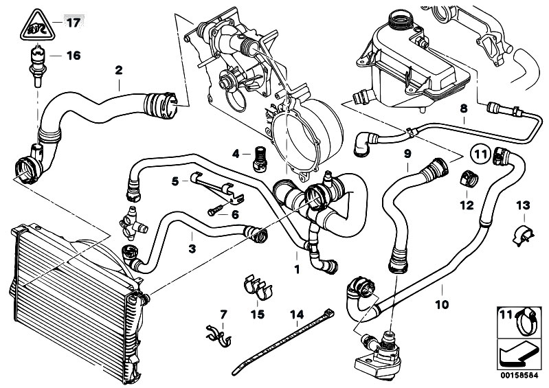 Original Parts For E53 X5 46is M62 Sav Engine Cooling System Rhestorecentral: Bmw E90 N52 Engine Diagram At Cicentre.net