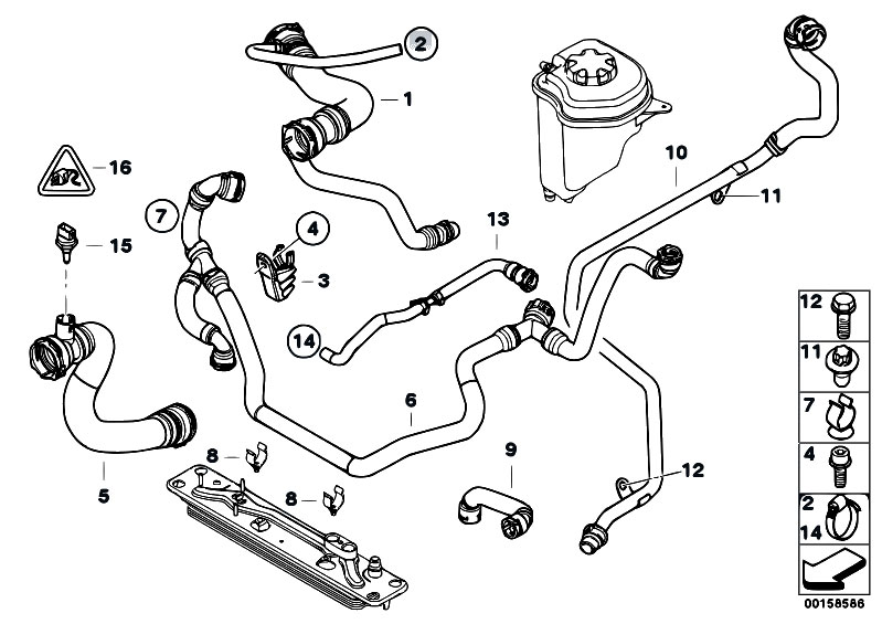 Original Parts For E70 X5 3 0si N52n Sav    Radiator