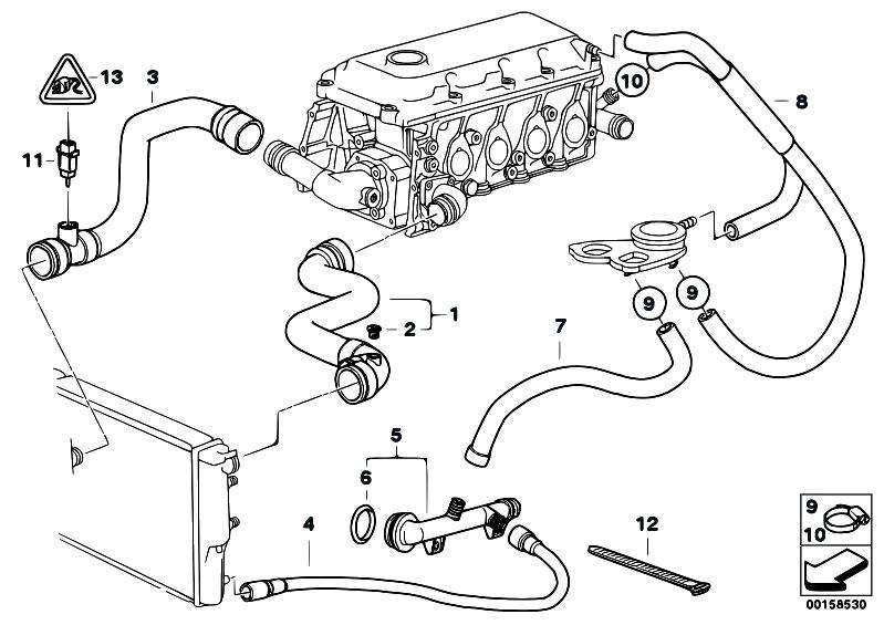 Original Parts for E46 318i M43 Touring Engine Cooling System