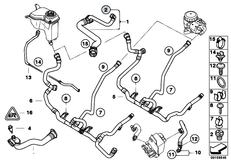 original parts for e90 320i n46n sedan / radiator/ cooling ... 99 bmw 323i engine diagram