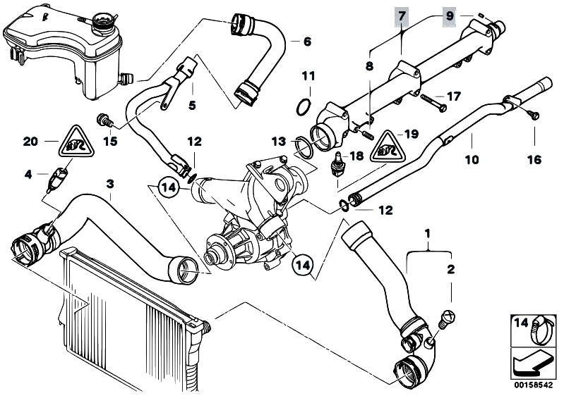 bmw 328i engine coolant sensor location