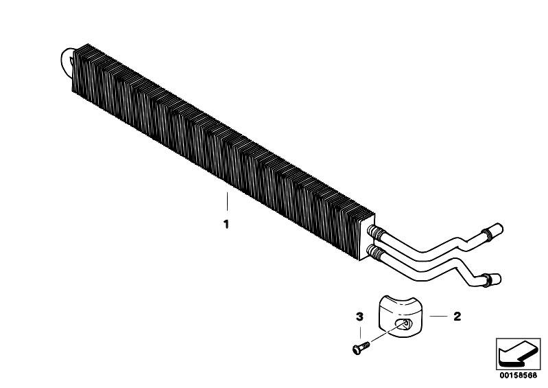 original parts for e70 x5 4 8i n62n sav    radiator   power steering cooler